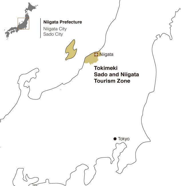TOKIMEKI SADO AND NIIGATA TOURISM ZONE Undiscovered Japan - Japan map niigata